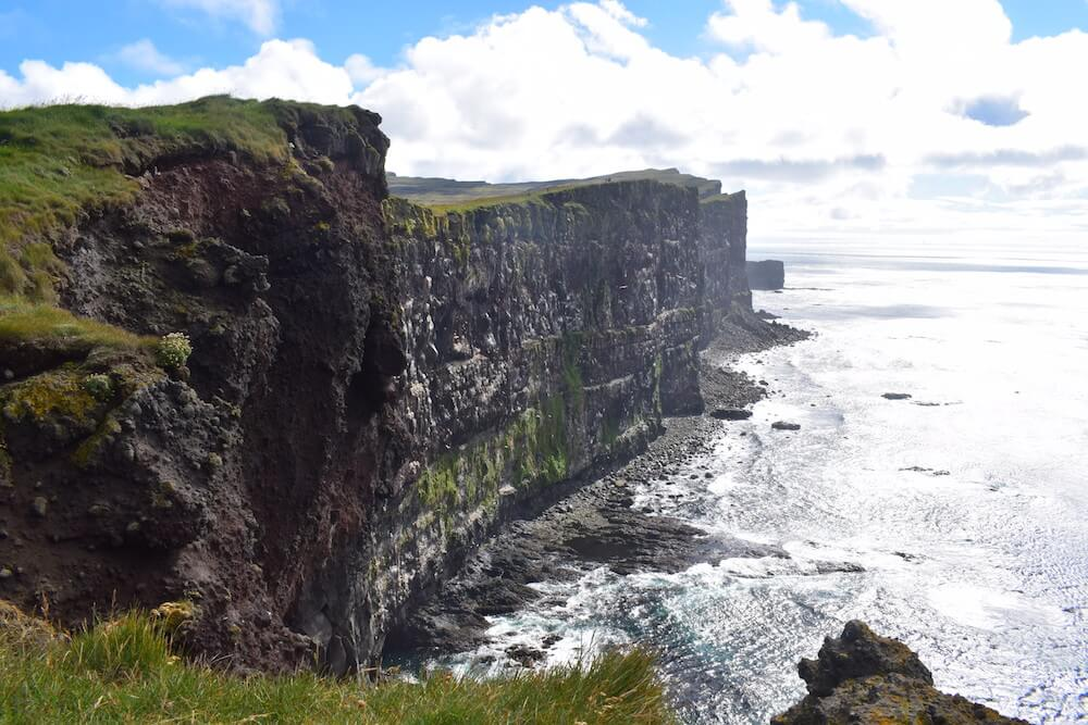 The steep cliffs of Látrabjarg
