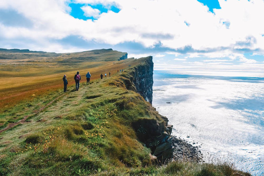 The cliffs of Latrabjarg, a must see in our Iceland Westfjords itinerary