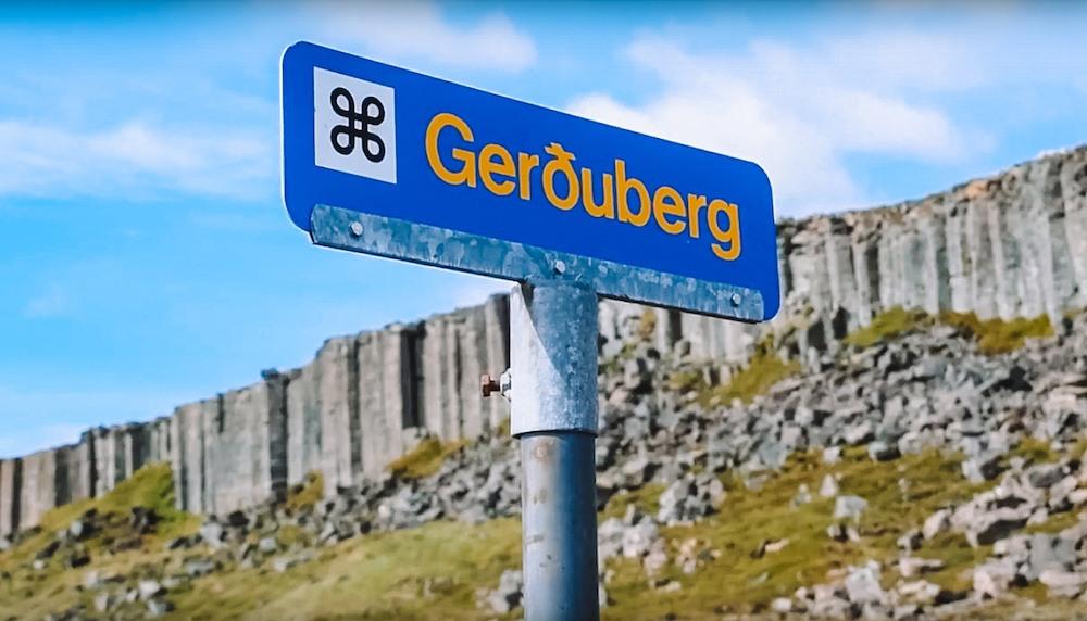 Driving up to the Gerduberg basalt columns