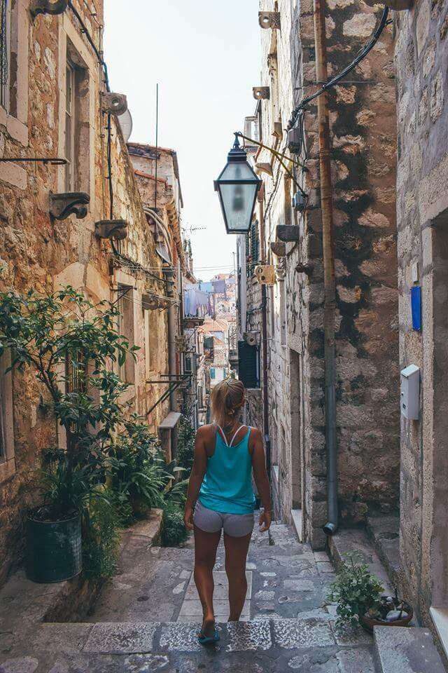 Exploring the side streets of the medieval Old Town of Dubrovnik