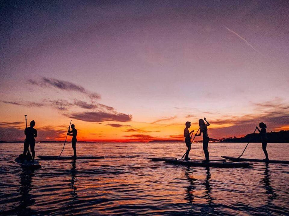We went on a sunset stand up paddling tour while in Split
