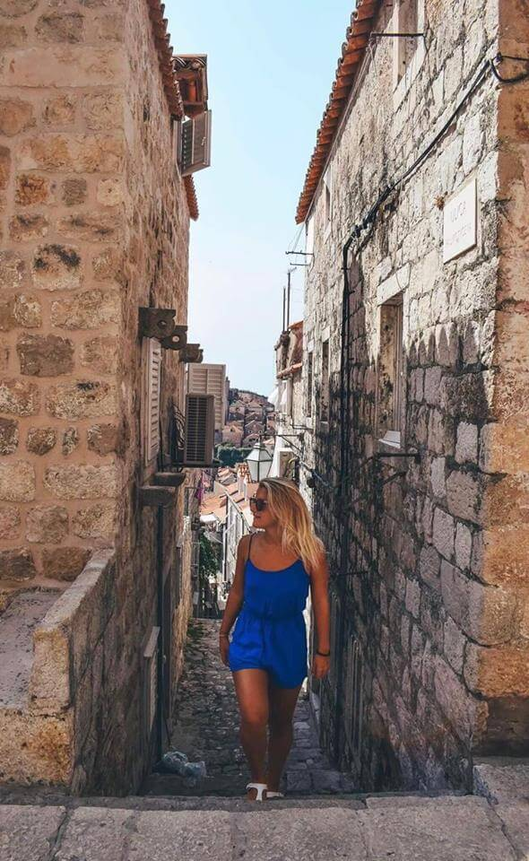 Wandering the side streets of the Old Town of Dubrovnik