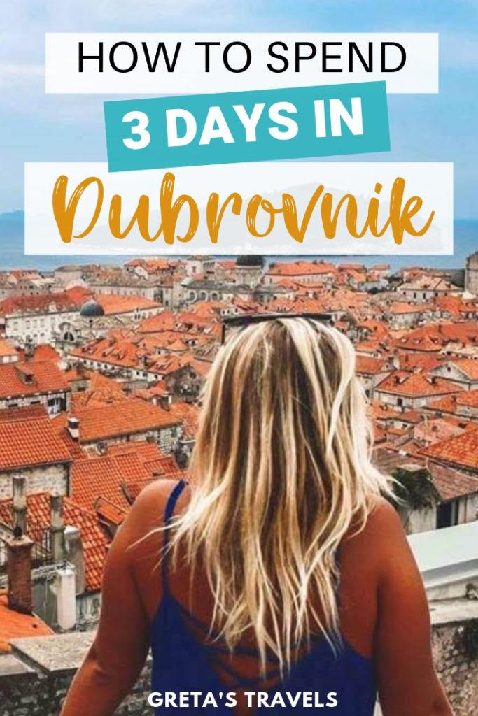 Planning a short getaway to Dubrovnik and don't know how to maximise your time there? Find out the best things to do and places to see if you only have 3 days to visit Dubrovnik. #croatia #dubrovnik #sunsetkayak #gameofthrones #traveladvice #europe #traveltips #croatiatips #dubrovnikadvice