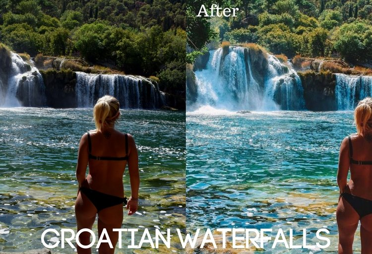 Croatian Waterfalls Preset
