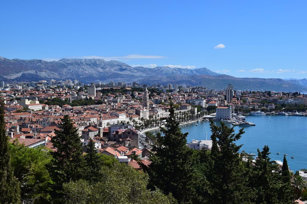 The view of Split from Park Marjan