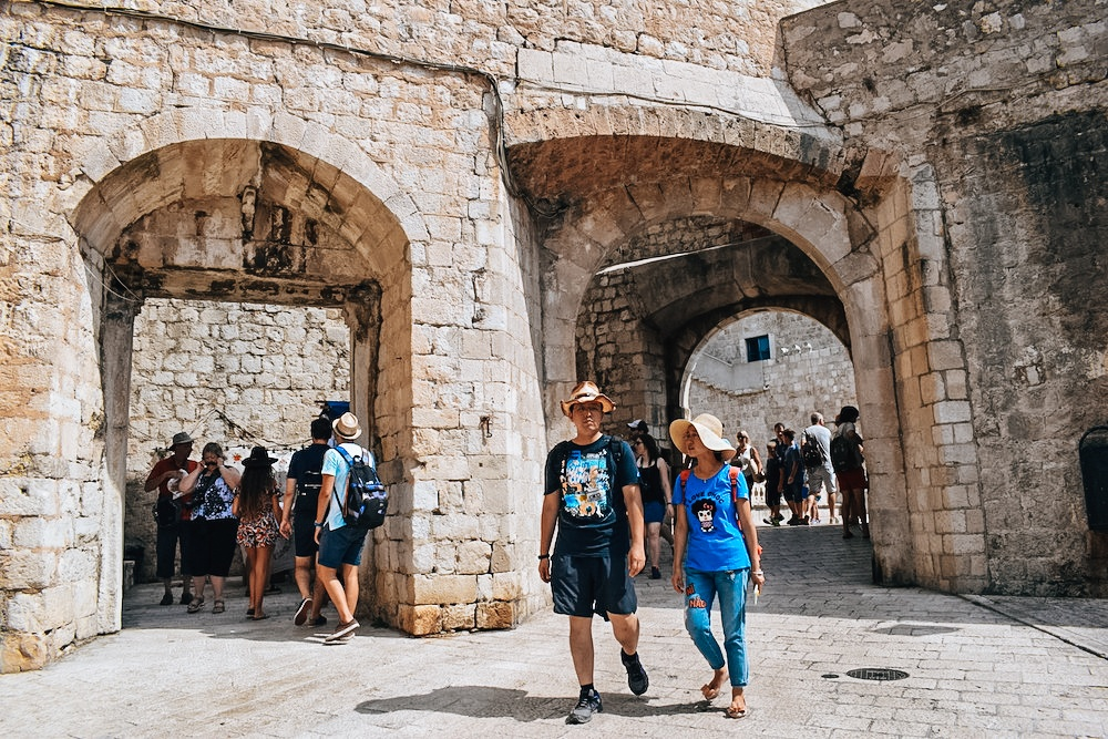 Just inside Ploce Gate where one of the season 2 Game of Thrones scenes is filmed