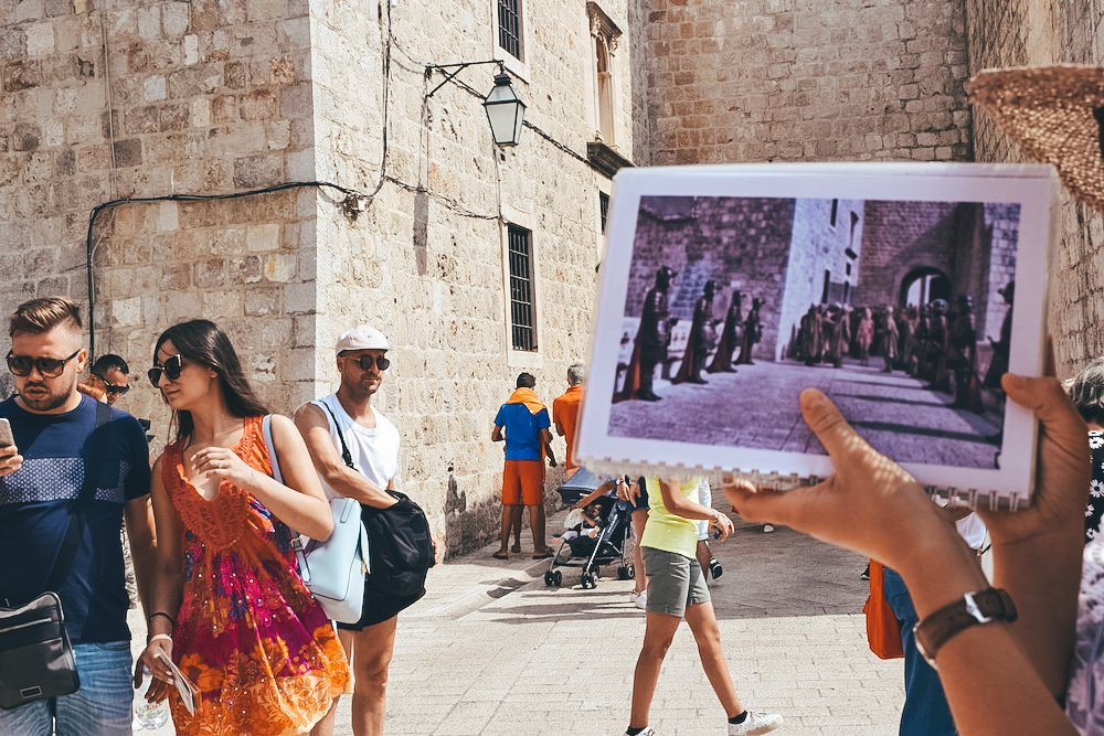 Ploce Gate in Dubrovnik features in Game of Thrones in season 5, episode 10, during the Walk of Shame scene