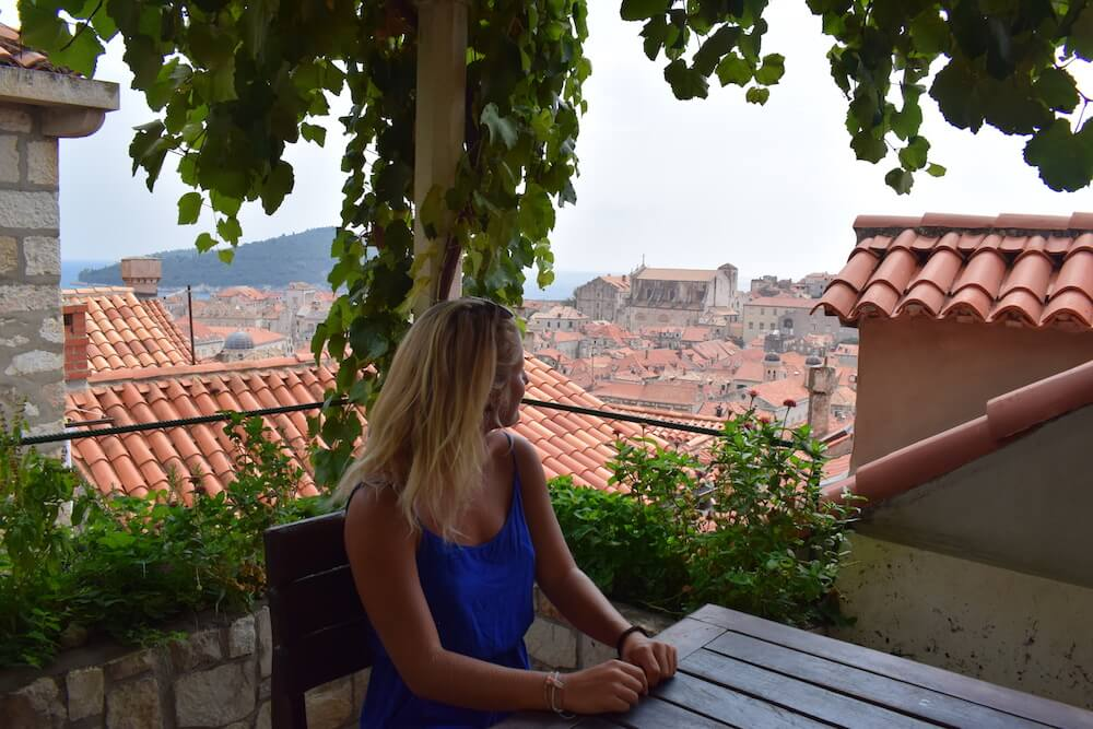 The view over Dubrovnik from Lady Pipi