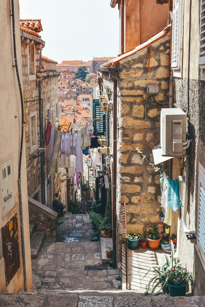 Wandering the streets of the Old Town of Dubrovnik, Croatia