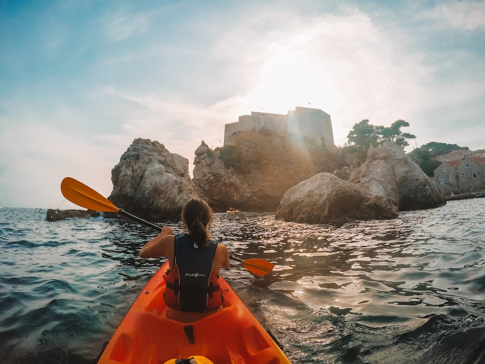 Kayak sunset tour in Dubrovnik, Croatia