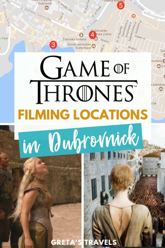 For the Game of Thrones fans Dubrovnik isn't just a city in Croatia, but also the filming set of Kings Landing. Come discover all the filming locations of Game of Thrones in Dubrovnik, including a map so you know exactly where they are plus photos of the location in real life compared to scenes from the TV show. #dubrovnik #croatia #europe #gameofthrones #filminglocations #kingslanding #traveltips #croatiatraveltips #GOTtour