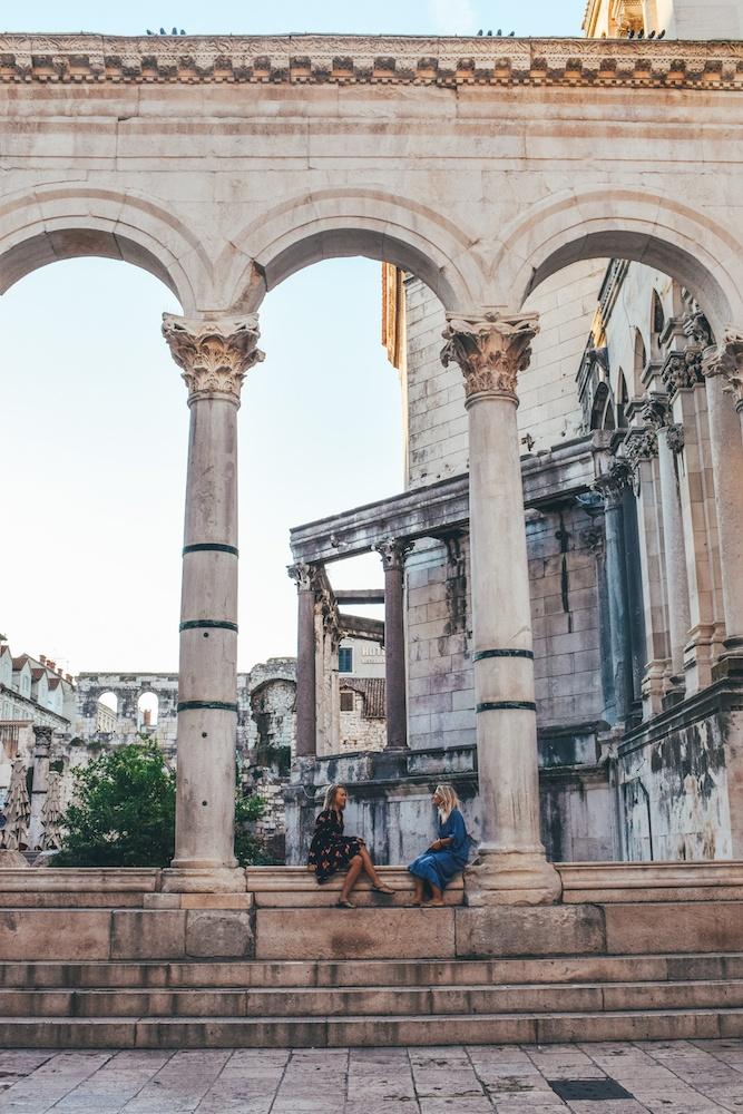 Exploring Diocletian's Palace in Split, Croatia