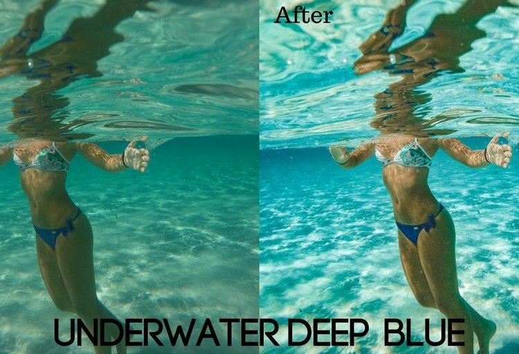 Underwater Deep Blue Preset