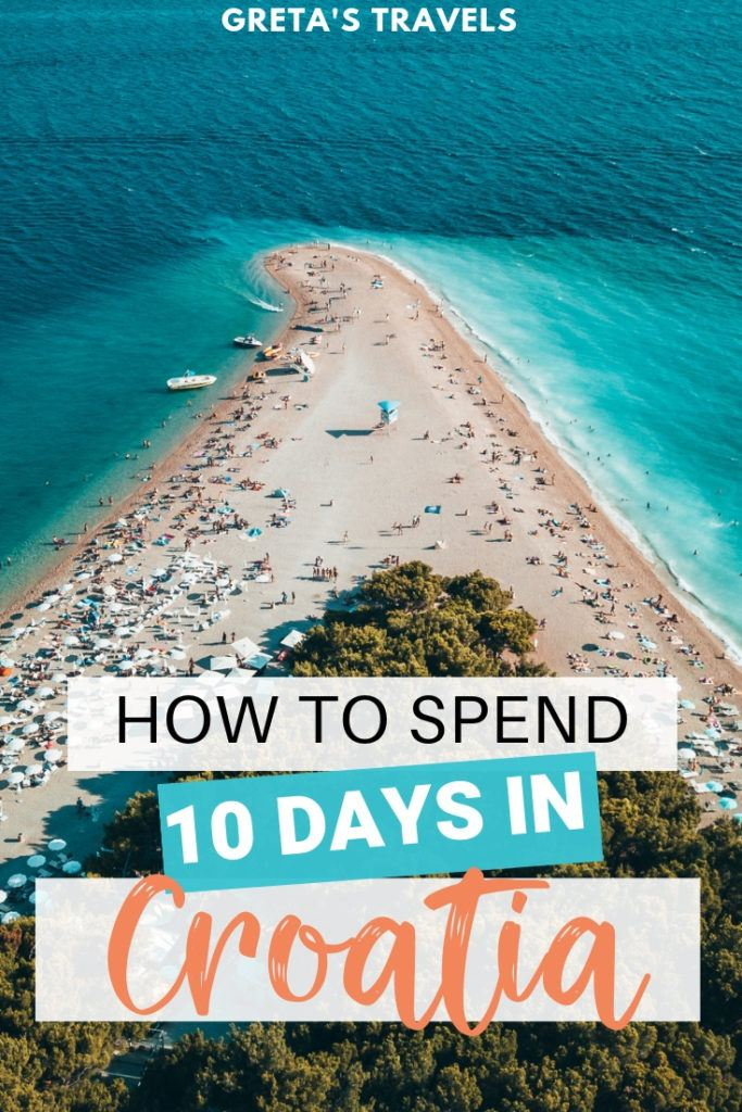 Planning a 10-day trip to Croatia? Check out this detailed day by day itinerary to find out how to spend 10 days in Croatia! #croatia #croatiatips #europe #traveladvice #croatiaitinerary #dubrovnik #split #hvar #krkawaterfalls #croatiatraveladvice