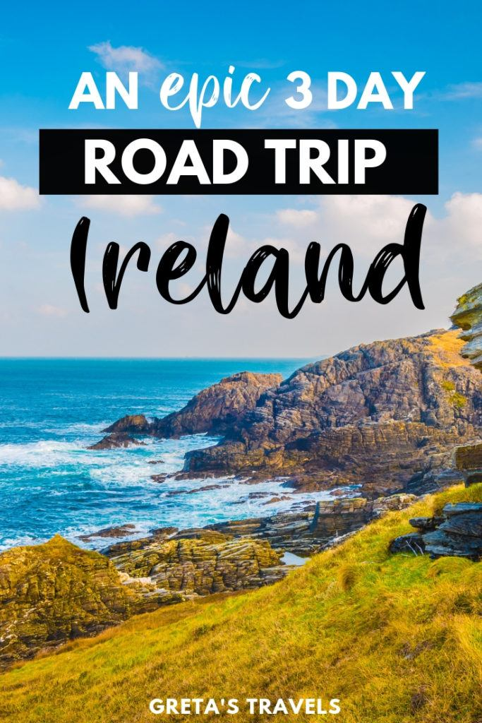 Find out the best road trip itinerary that will allow you to see the most of Ireland in just 3 days. Including Cork, Galway, Killarney, the Cliffs of Moher and Dublin. #ireland #roadtrip #irelandroadtrip #europe #traveladvice #traveltips #irelandadvice