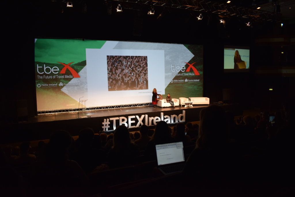 One of the presentations at TBEX Ireland