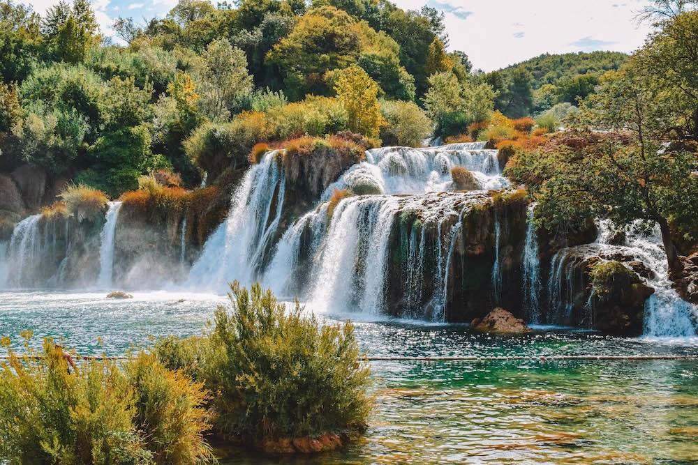 Krka Waterfalls at Krka National Park in Croatia