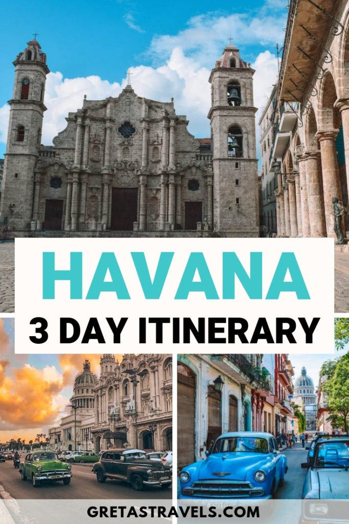 Havana, the capital of Cuba is a beautiful city with a rich culture, vibrant nightlife and awesome restaurants. Find out the best things to do in Havana, Cuba, in three days! #cuba #havana #3daysinhavana #travelguide #havanatraveltips #cubatraveltips