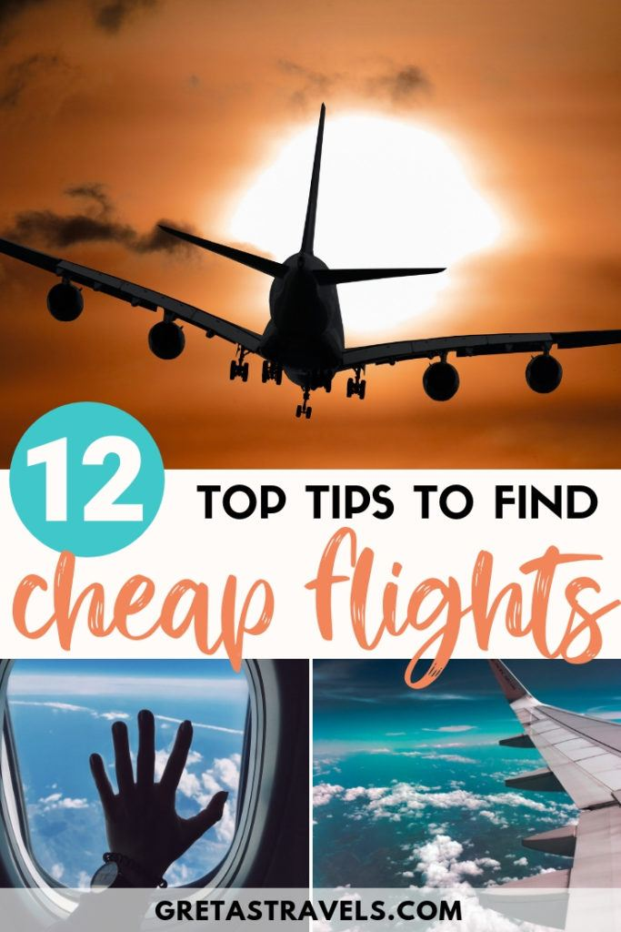 Want to save money on flights? Check out this 12-step guide that will ensure you always find the cheapest flights to anywhere. #flightadvice #traveltips #traveladvice #flightips