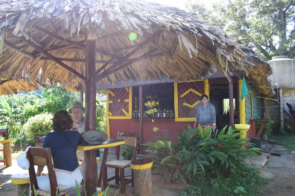 A cute cafe in the middle of the valley of Viñales