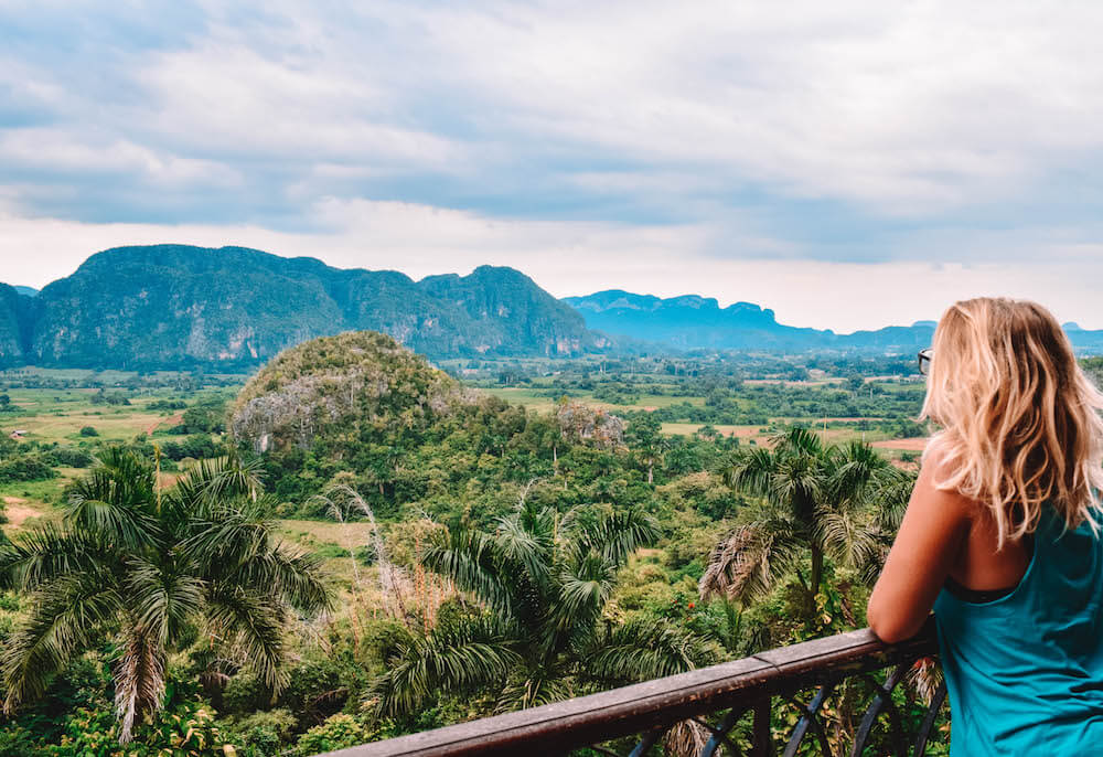 View over the valley of Viñales from the hotel viewpoint