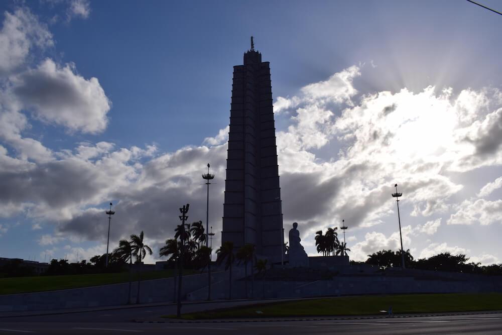 The Jose Martin Memorial in Plaza de la Revolution in Havana, Cuba