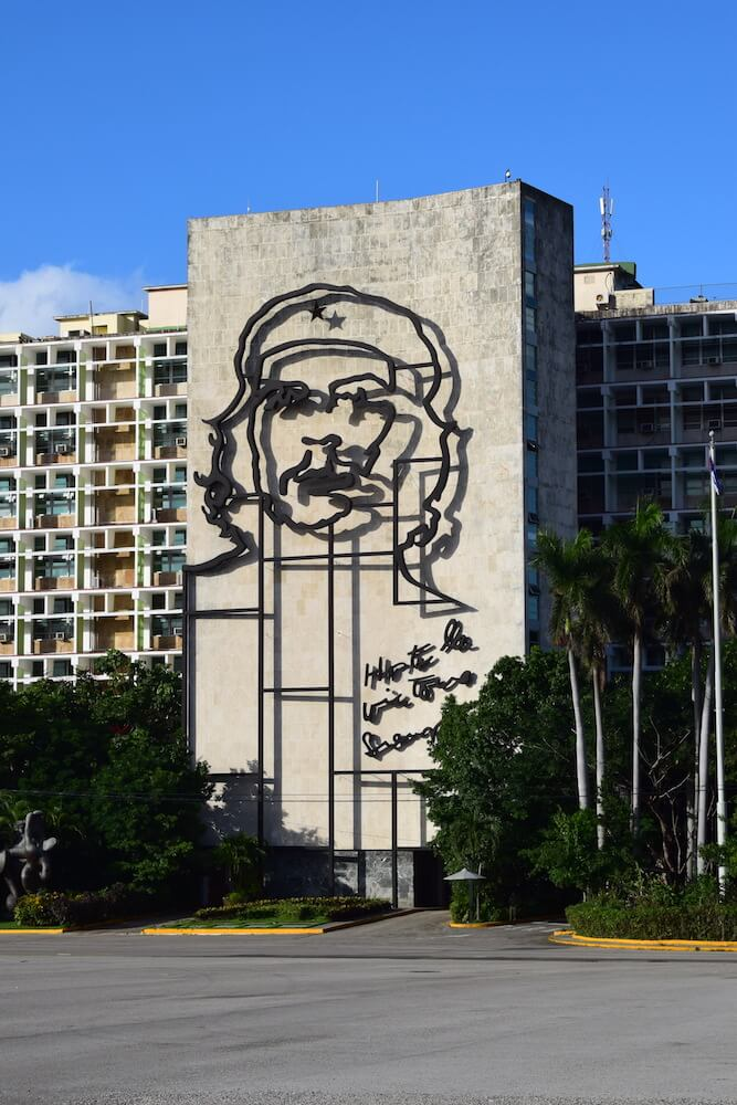 "The metal sculpture in honour of Ernesto ""Che"" Guevara in Revolution Square in Havana, Cuba"