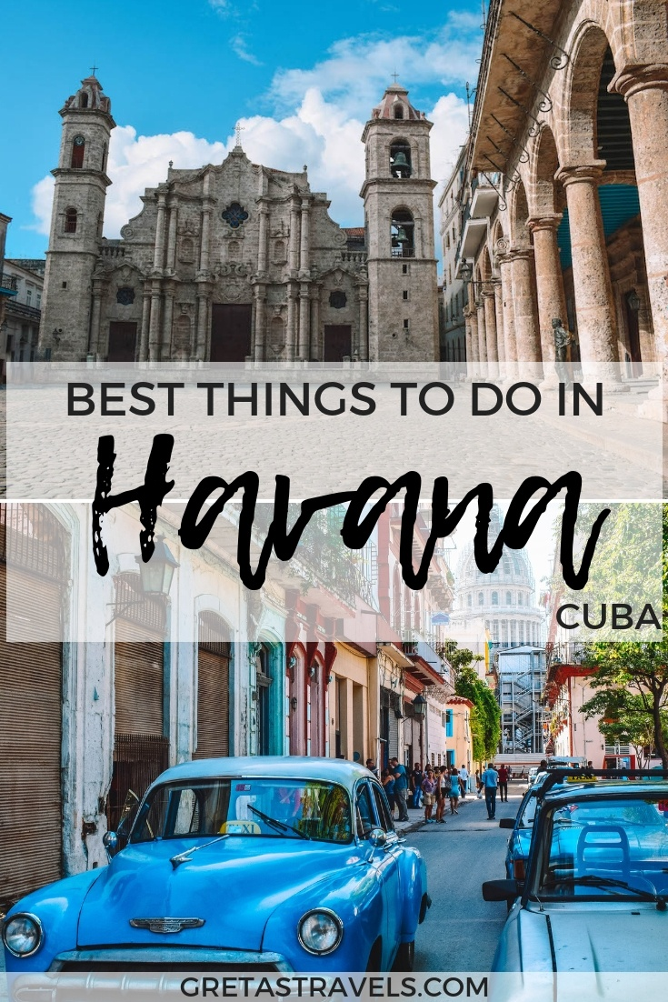 Havana, the capital of Cuba is a beautiful city with a rich culture, vibrant nightlife and awesome restaurants. Find out the best things to do in Havana, Cuba, in three days! #cuba #havana #3daysinhavana #travelguide