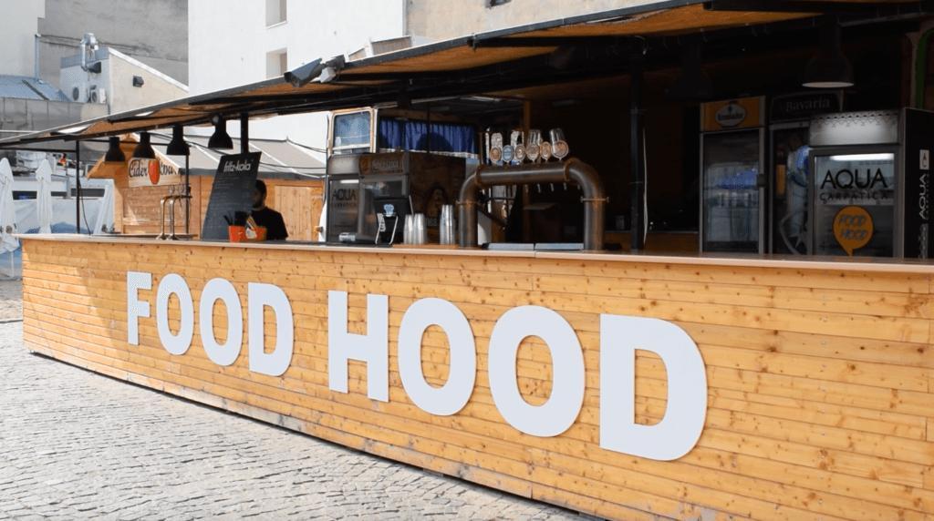The main bar at Food Hood
