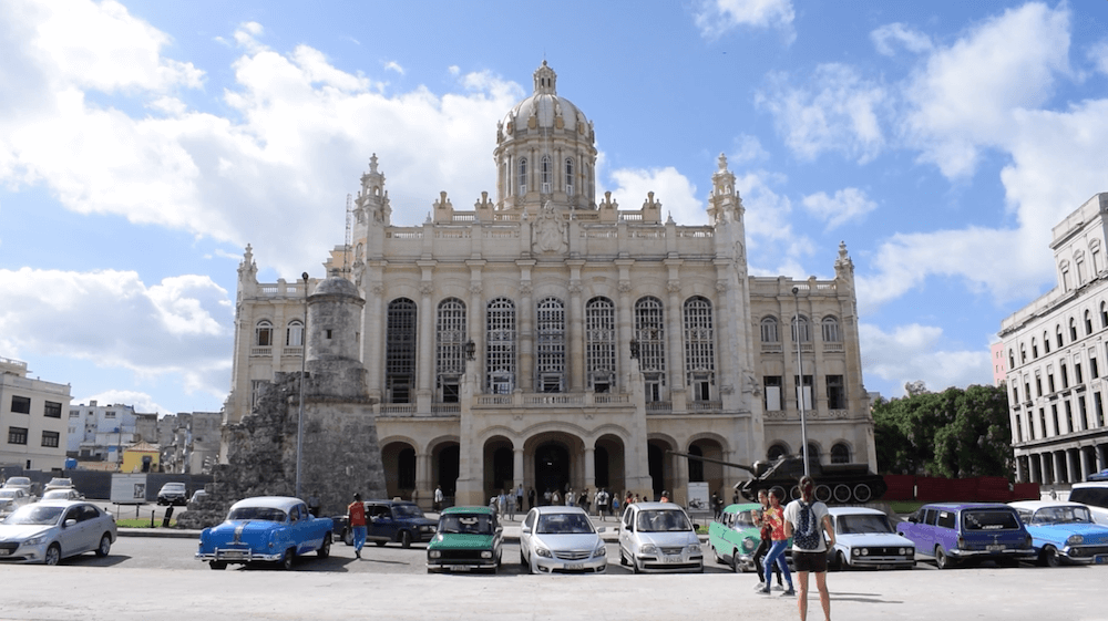 The outside of the Revolution Museum in Havana, Cuba