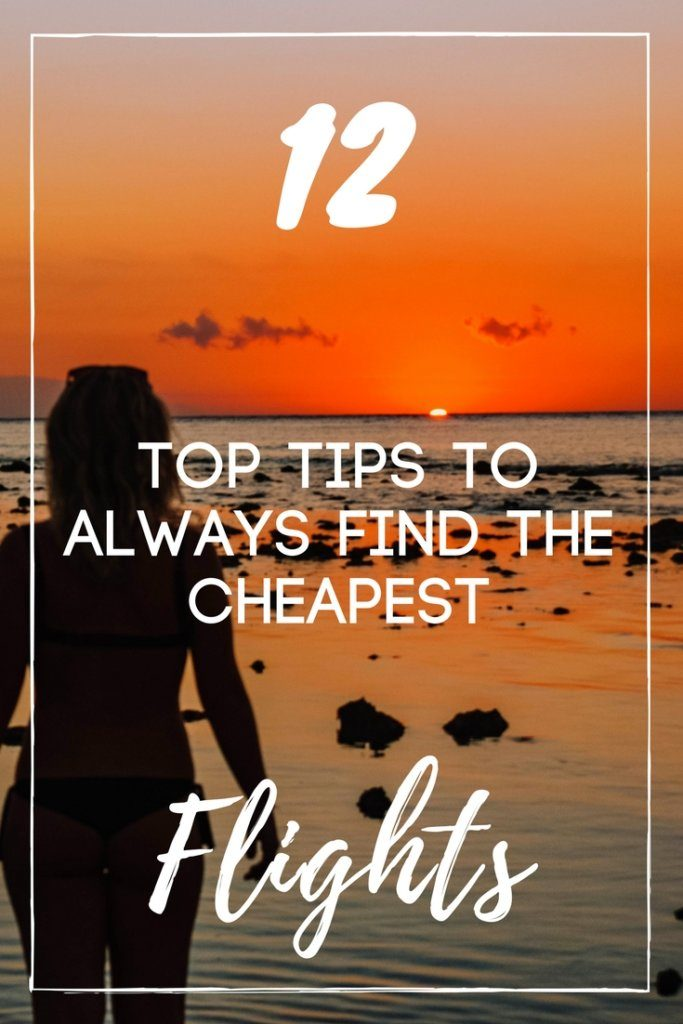Want to make sure you never overspend on flights again? Check out this 12-step guide on how to save money and always find the cheapest flights.