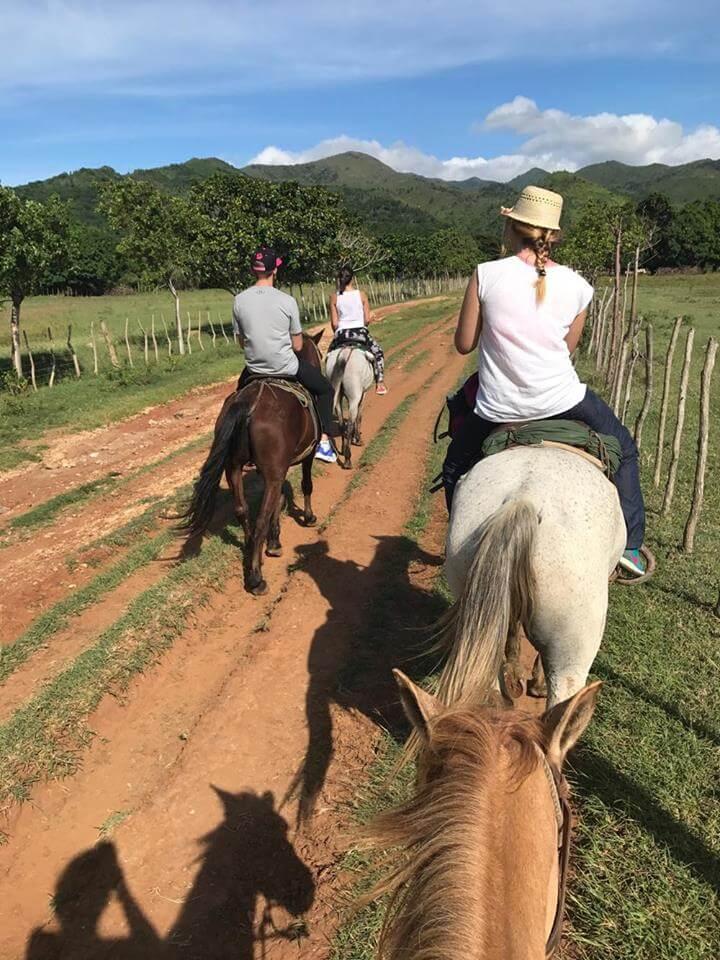 Horse riding in the Topes de Collantes National Park, Cuba
