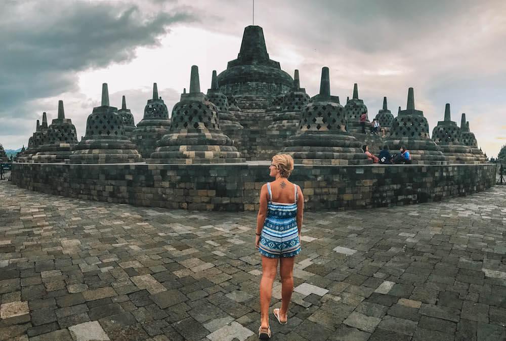 Exploring the Borobudur temple compound