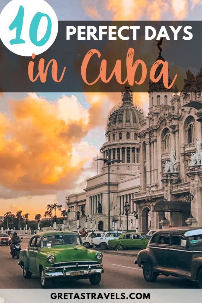 Planning a 10-day trip to Cuba? Find out all the best things to do, places to see and how to spend 10 days in Cuba with this ultimate Cuba itinerary and travel guide! #cuba #caribbean #traveladvice #traveltips #10dayitinerary #cubatraveltips #havana #trinidad #vinales