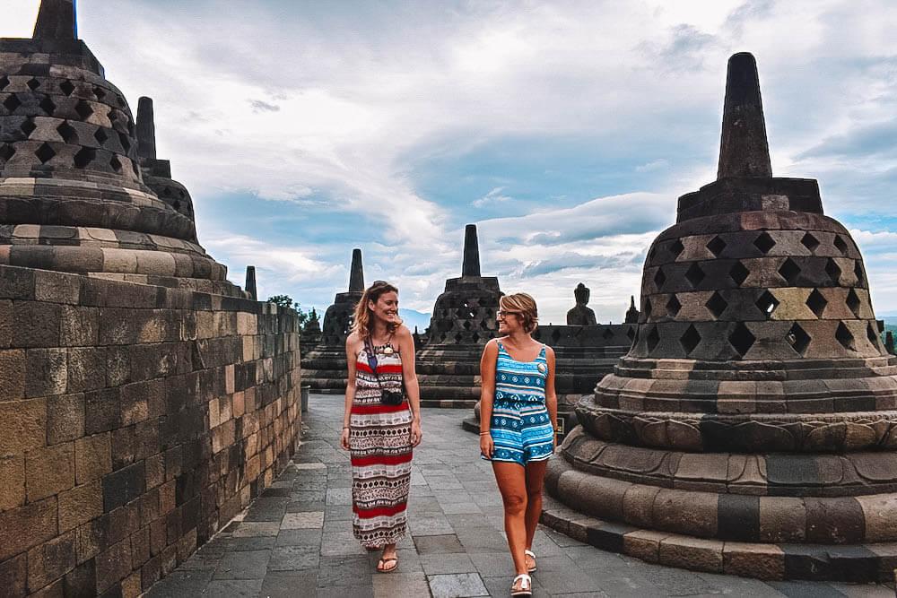 Explore the temples of yogyakarta borobudur and prambanan in 1 day exploring the stupas of borobudur in yogyakarta indonesia stopboris Images