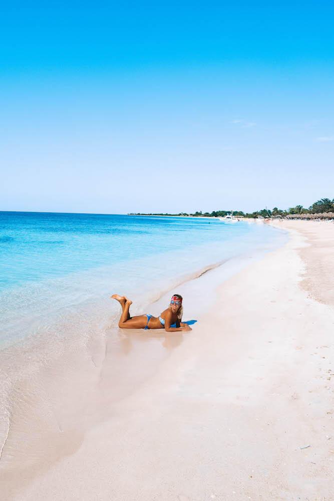 Chilling at the beach at Playa Ancon, Cuba