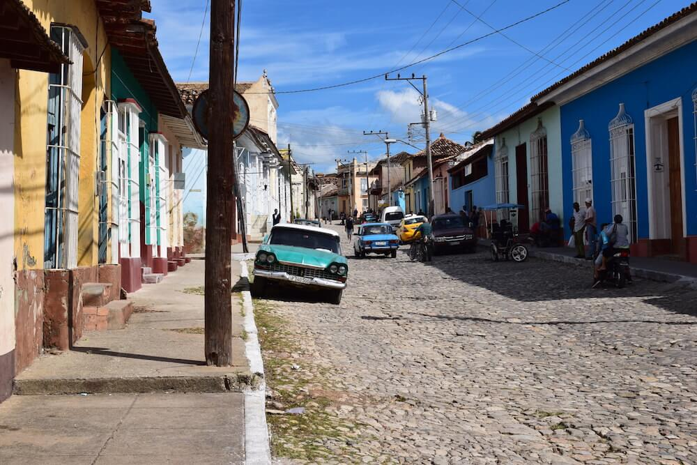 The colourful streets of the town centre in Trinidad, Cuba