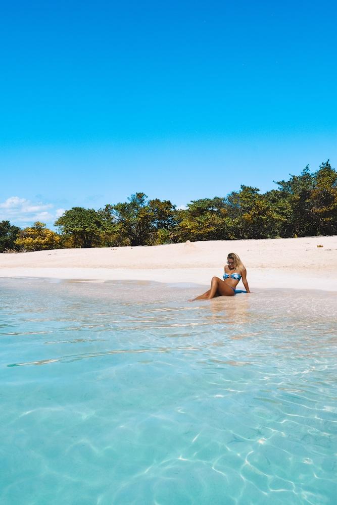 Chilling at the beach at Playa Ancon, Cuba.