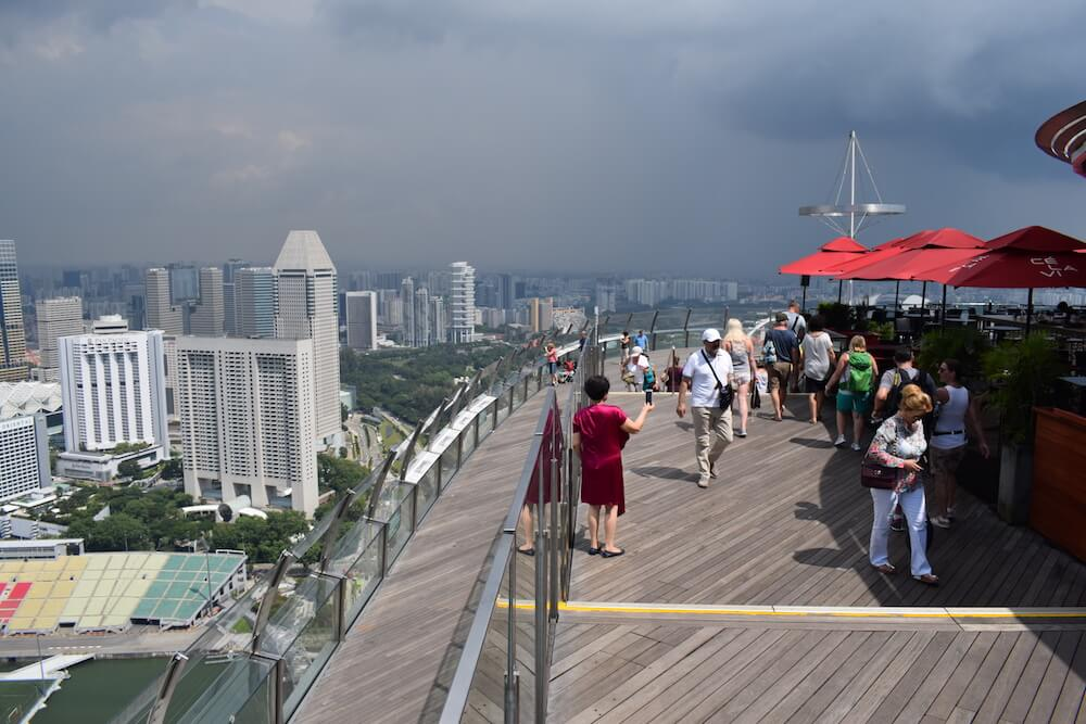 The Sands SkyPark Observation Deck in Singapore