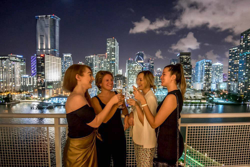 Toasting to our last evening in Miami from the Mandarin Oriental