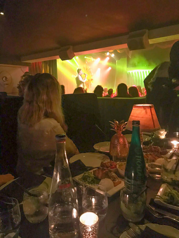 Enjoying the flamenco performance at El Tucan during the dinner show