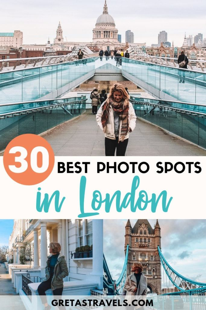 Looking for the best Instagram photo spots in London? You've just found them. Check out this guide and map to the 30 most Instagrammable places in London, so that you can go on your own self-guided tour of London and snap all the best photos to share on Instagram #london #instagram #bestphotospot #unitedkingdom #uk