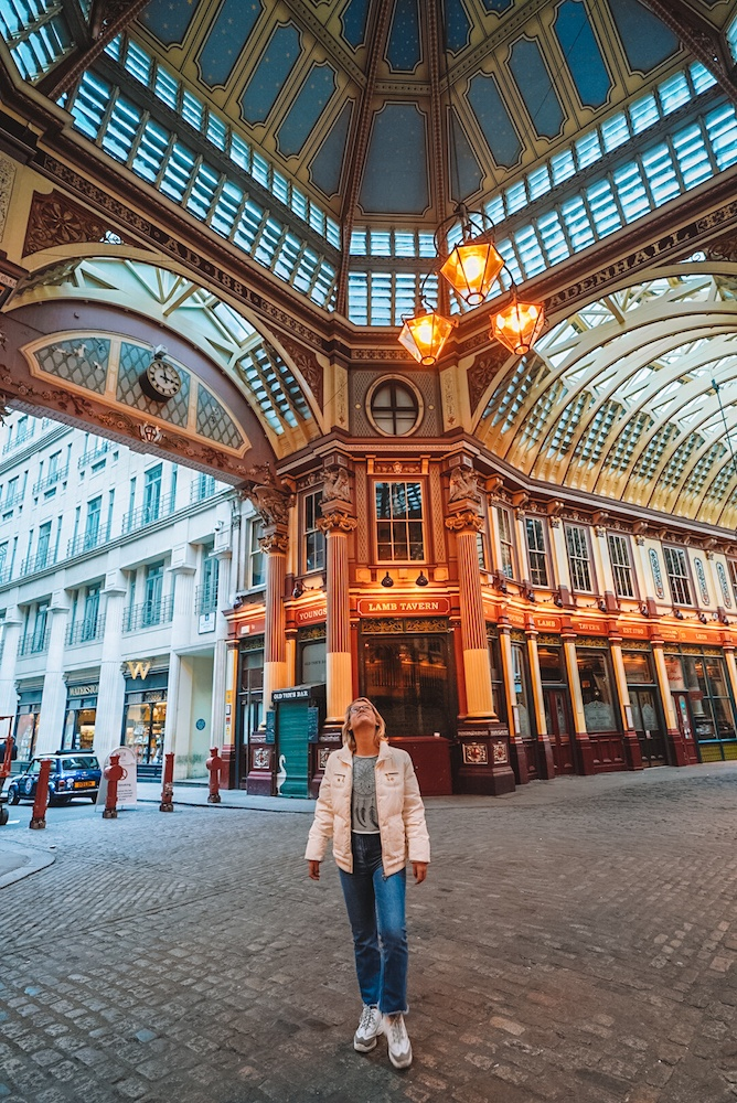 Leadenhall Market in London, UK