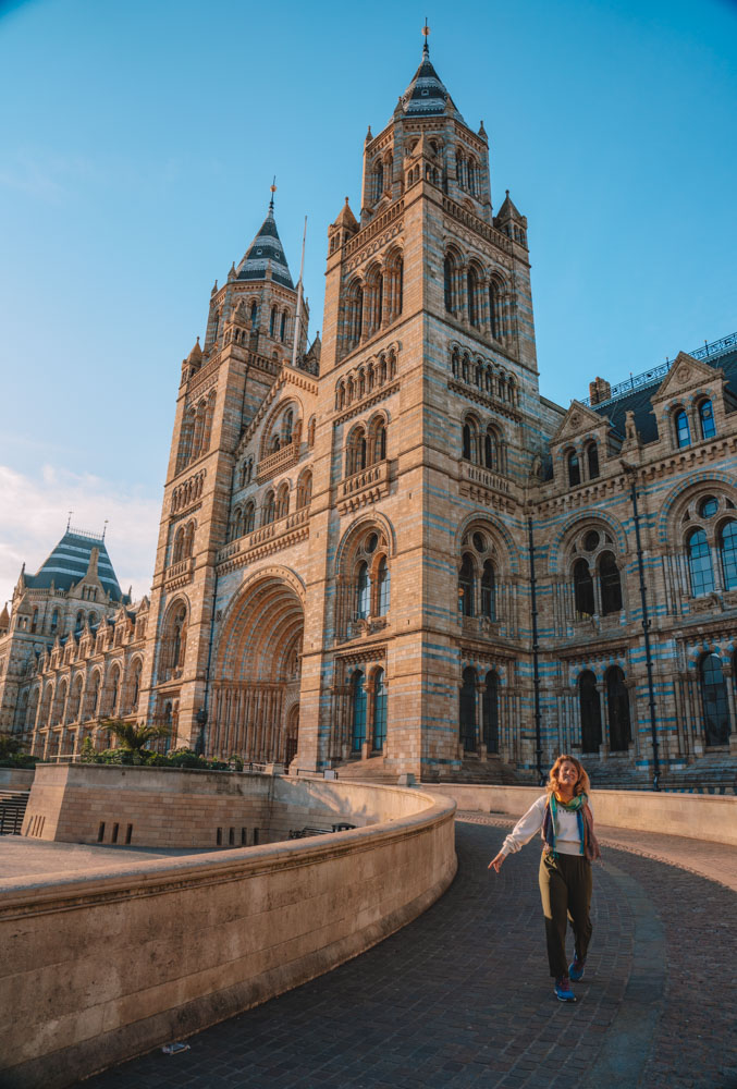 The Natural History Museum in London from outside