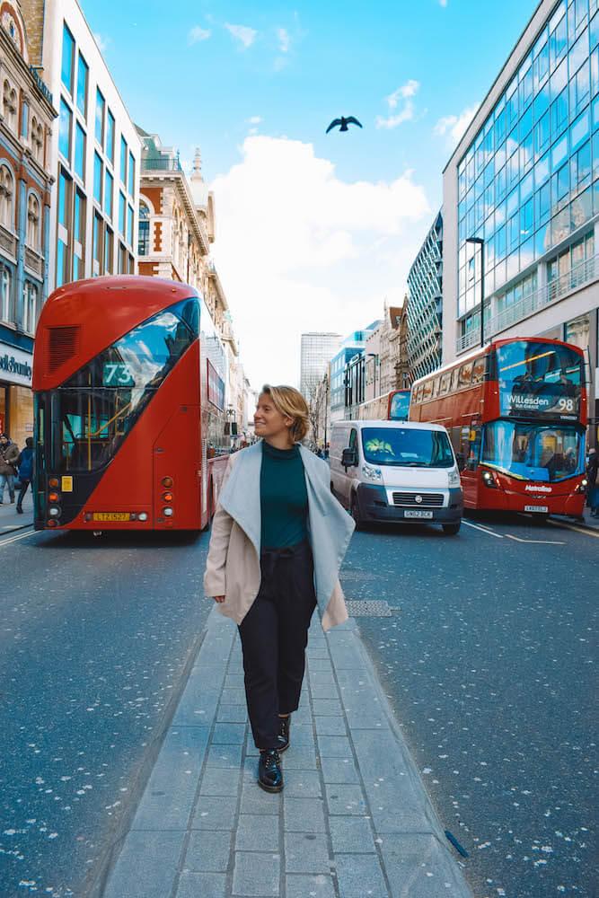 Feeling like a top model in Oxford Street