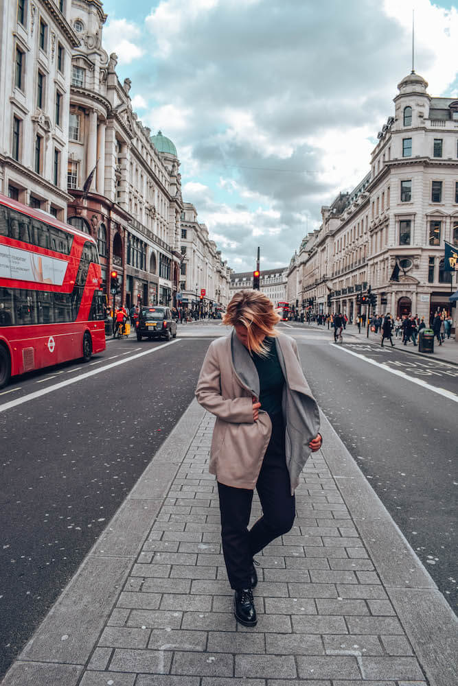 Exploring Regent Street in London, UK