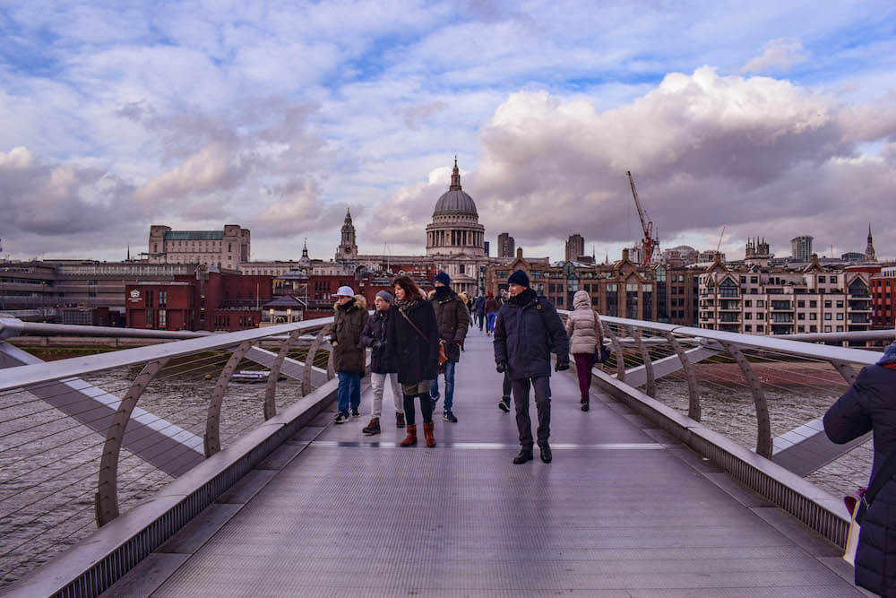 Millennium Bridge in London, UK