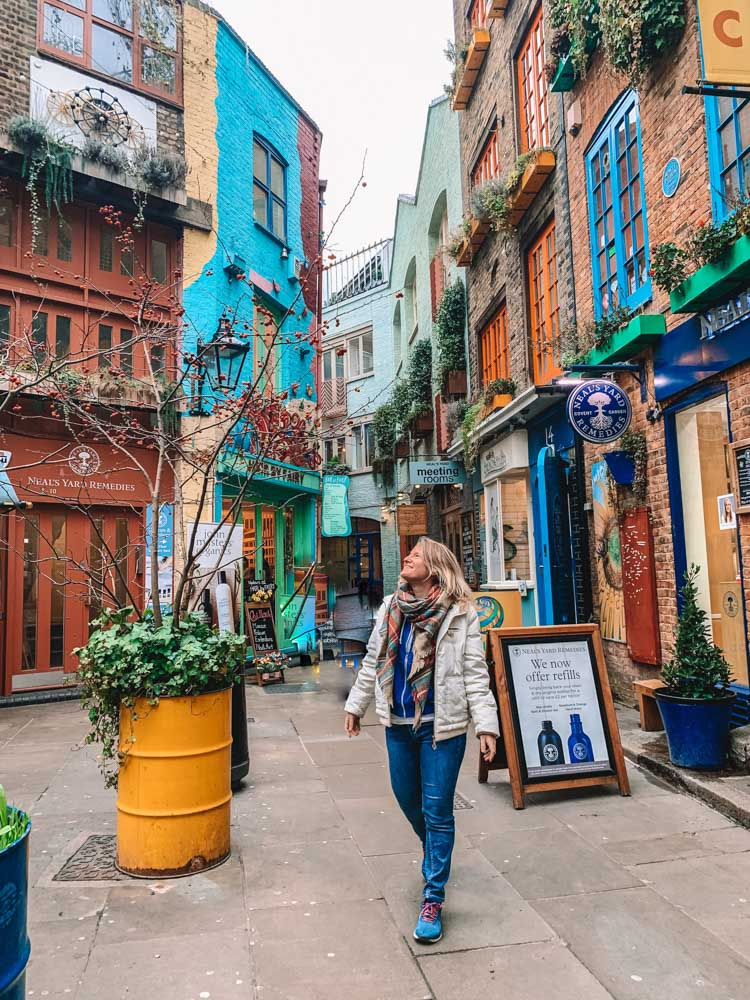 Exploring Neal's Yard in London