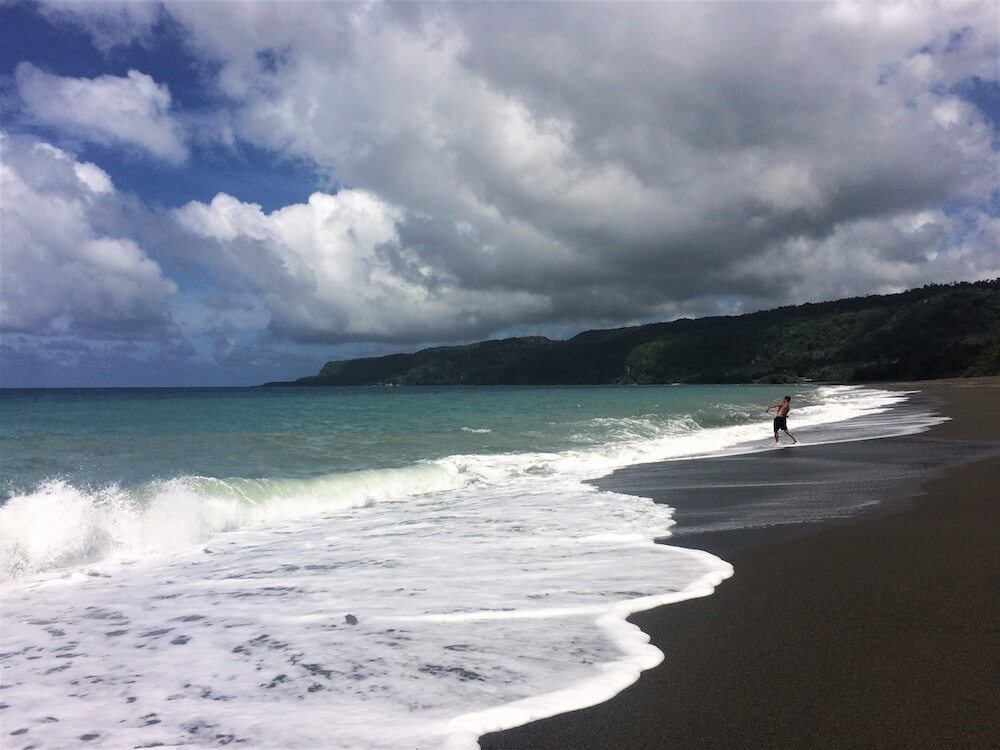 The beach in Baracoa, photo by Dame Cacao