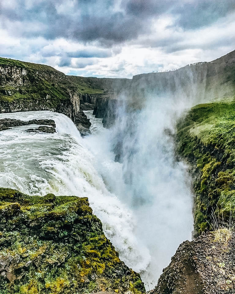 Gulfoss waterfall in the Golden Circle, Iceland